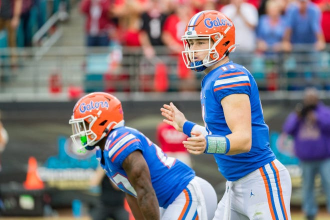 Florida quarterback Kyle Trask is getting the bulk of the work after throwing 29 touchdown passes in 2019. It was the most by anyone at Florida since Tim Tebow in 2008.