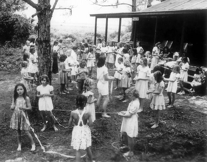 Salvation Army Camp, Lake Osborne in Lake Worth 1940s or 1950s.