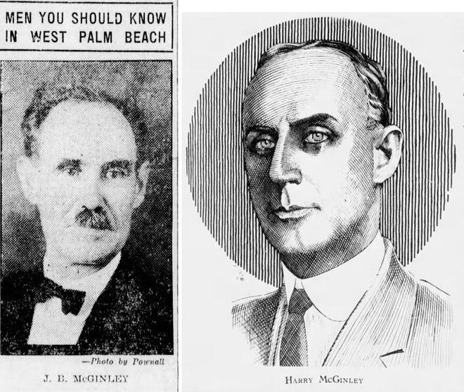 Brothers James and Harry McGinley helped West Palm Beach emerge in the early 20th century. PALM BEACH POST ARCHIVES