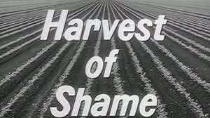 "CBS broadcast the documentary ""Harvest of Shame"" on Thanksgiving Day, 1960."