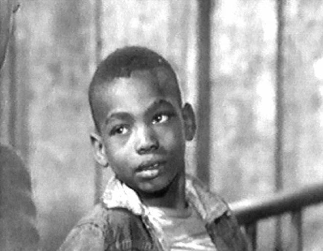 "Jerome King as a boy in ""Harvest of Shame""."