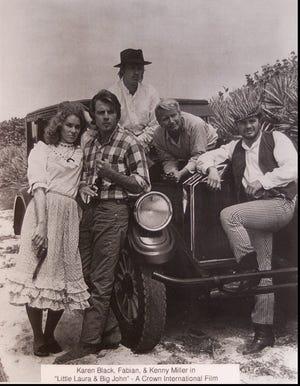"""Karen Black, Fabian & Kenny Miller in """"Little Laura & Big John"""" copied from Miller's collection"""