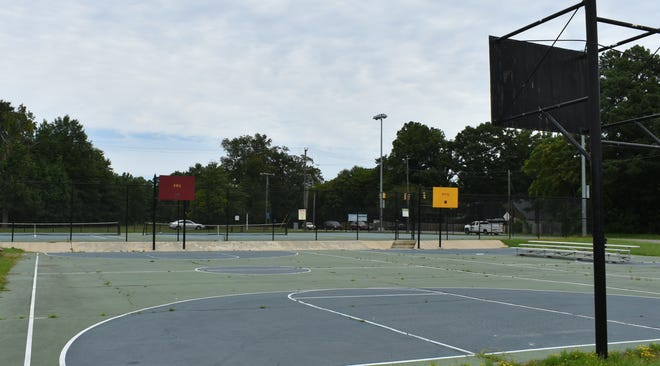 The basketball court at Petersburg Legends Historical Park and Nature Sanctuary