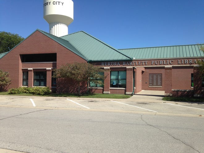 Bertha Bartlett Public Library is located at 503 Broad St., Story City.