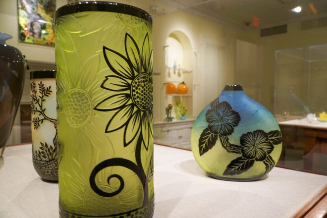 """Works by various artists are featured in the """"In Dialogue with Nature: Glass in the Gardens"""" exhibition at Selby Botanical Gardens."""