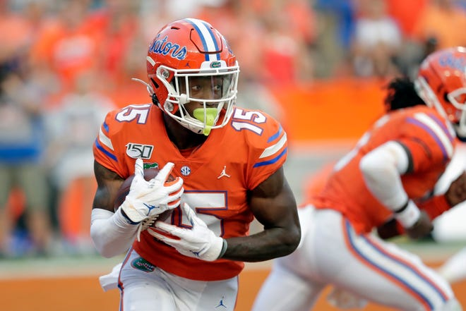 Florida wide receiver Jacob Copeland is back at practice.