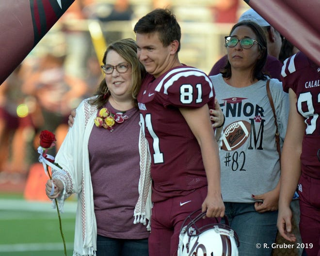 Calallen football player Gabe Cooley