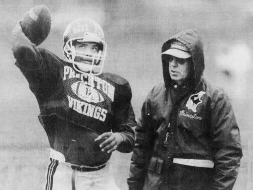 DECEMBER 3, 1988: Quarterback Johnny Mattress has developed as a key player for Princeton coach Pat Mancuso.