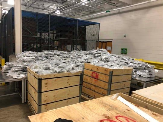 On Sunday, 1,031 pounds of marijuana was seized at the Detroit-Windsor border.