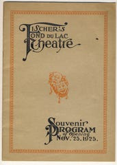 The opening of Fischer's Fond du Lac Theatre on Nov. 25, 1925 included a souvenir program for the occasion.