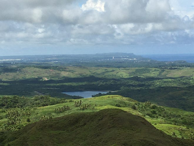 A view of Fena Reservoir from the area near Mount Lamlam and Mount Jumullong Manglo in southern Guam.