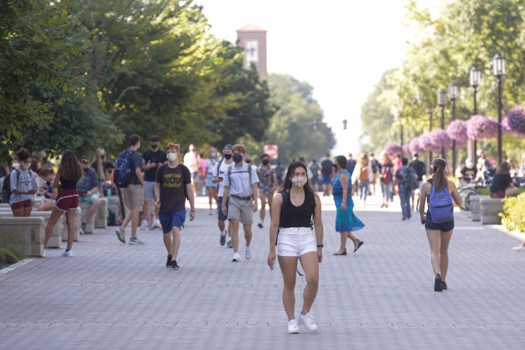 Students return to Purdue University to find a mix of online and in-person learning.