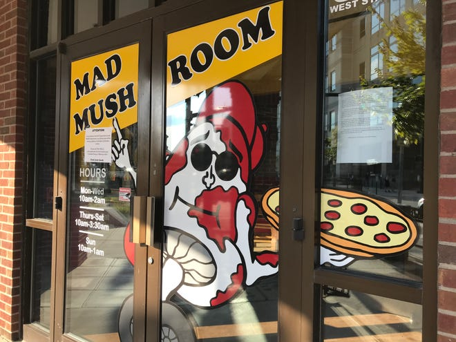 Notes in the windows of Mad Mushroom, 320 W. State St. in West Lafayette, announced that the restaurant had closed Sunday, Aug. 23, 2020, after an employee tested positive for coronavirus. Owner David Sommers said he closed Mad Mushroom out of an abundance of caution for his staff and customers, as Purdue students returned to West Lafayette for the start of classes Aug. 24.