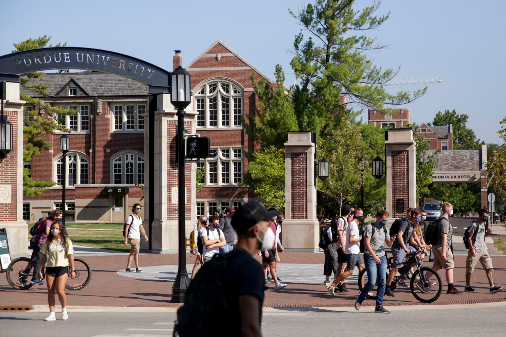 """Purdue University says it has """"ample space"""" for quarantine if students test positive for the coronavirus."""