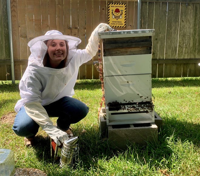Carrie Grace Potter discusses her hobby of beekeeping with Homestyle podcast hosts Leigh Guidry and Joe Cunningham. Find all episodes of the podcast on your favorite app or at theadvertiser.com.