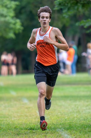 Evan Ross was the No. 4 man on Brighton's state championship cross country team in 2019.