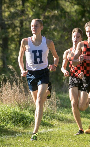 Hartland's Riley Hough is a two-time all-stater who will be among the contenders for the state Division 1 cross country championship this season.