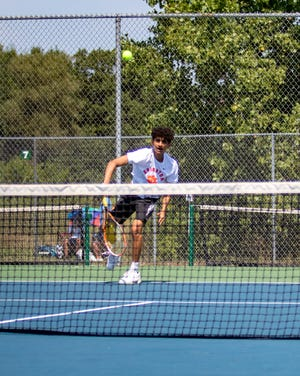 Brighton senior Aditya Shenoy is a fourth-year varsity player who is at No. 1 singles for the first time.