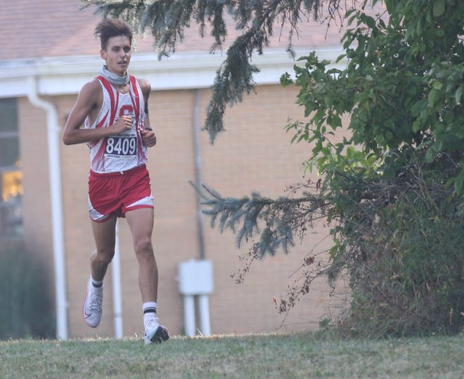 Shelby's Huck Finnegan won the Richland County Cross Country Meet individual championship with a time of 17:16.8.