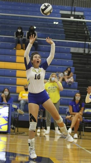Ontario's Izzy Graaf collected 23 assists, five digs and seven aces in a win over Mansfield Senior.