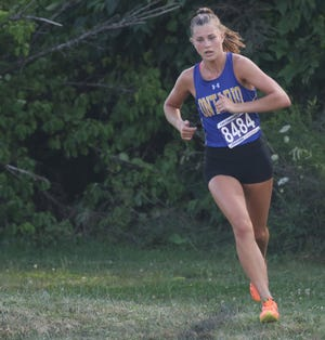 Ontario's Brienne Trumpower ran an 18:19.12 at the Seneca East Night Invite to set a new Ontario High School girls cross country record.