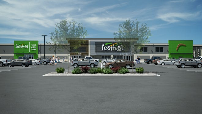 A rendering shows what the proposed Festival Foods in West Allis will look like when it's completed. The store is going into the building that formerly housed a Pick 'n Save supermarket, at 11111 W. Greenfield Ave.