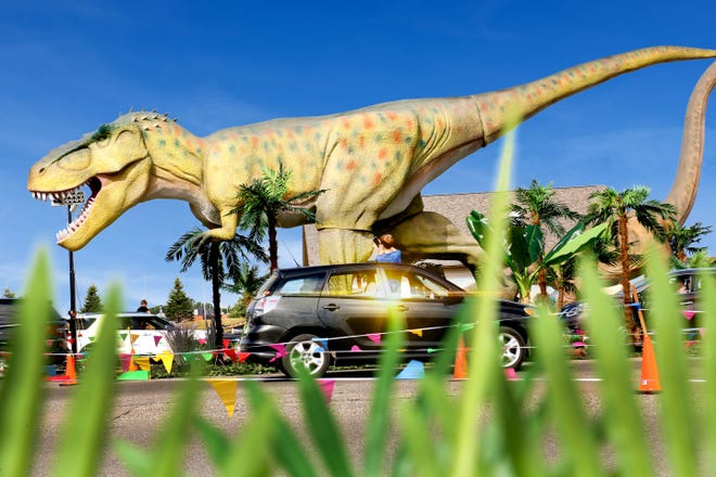 Pinnacle Production Group is bringing Dinosaur Adventure Drive-Thru to the Waukesha County Expo Center Sept. 17-20, and Sept. 24-27.