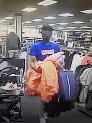 Springfield police are seeking this man, who they say stole clothing from Hibbett Sports.