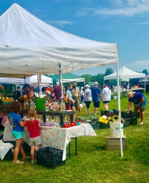 This past year, Raccoon Valley Park hosted the Granville Area Chamber of Commerce's Saturday Farmers Markets. The park is slated for paving and installation of a new pavilion soon, although two flood-damaged soccer fields at the back of the park will not re-open.