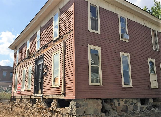 This Civil War-era building on Northville's Main Street is getting prepped to move.