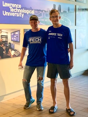 Lawrence Tech runners Jared Pemberton and Hunter Richards are transitioning from high school to college running after four years in Yale's program.