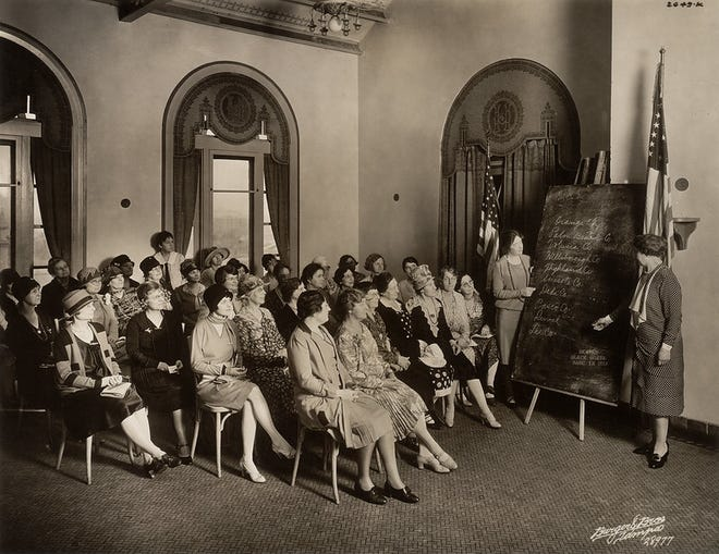 League of Women Voters held Citizenship School across the United States to help the newly enfranchised women become informed before heading to the polls.