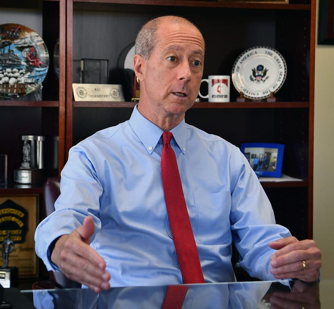 U.S. Rep. Mac Thornberry, R-Clarendon, speaks during an interview in his Wichita Falls office as shown in this Aug. 24, 2020, file photo.