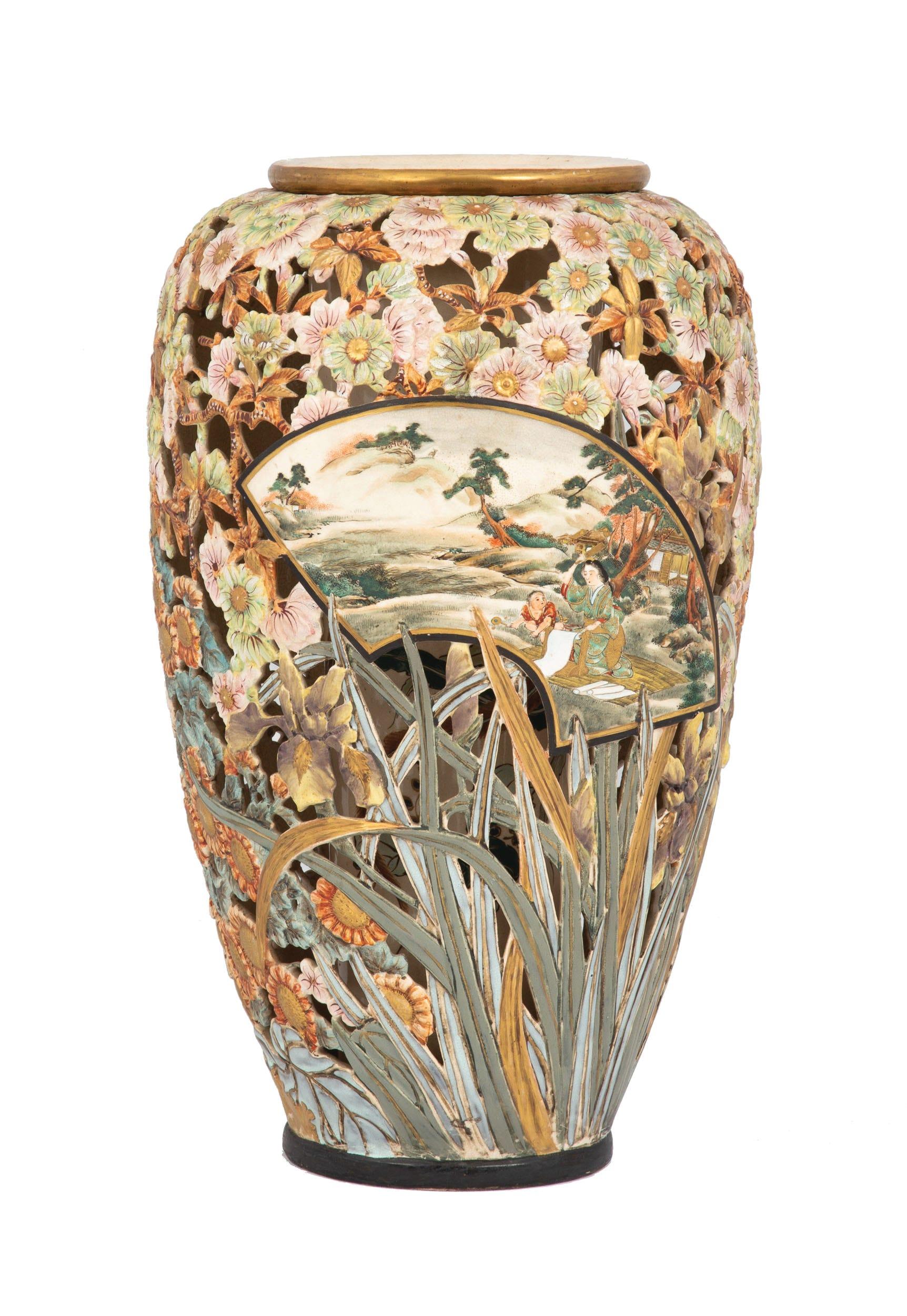 Pottery vintage satsuma Satsuma Vase