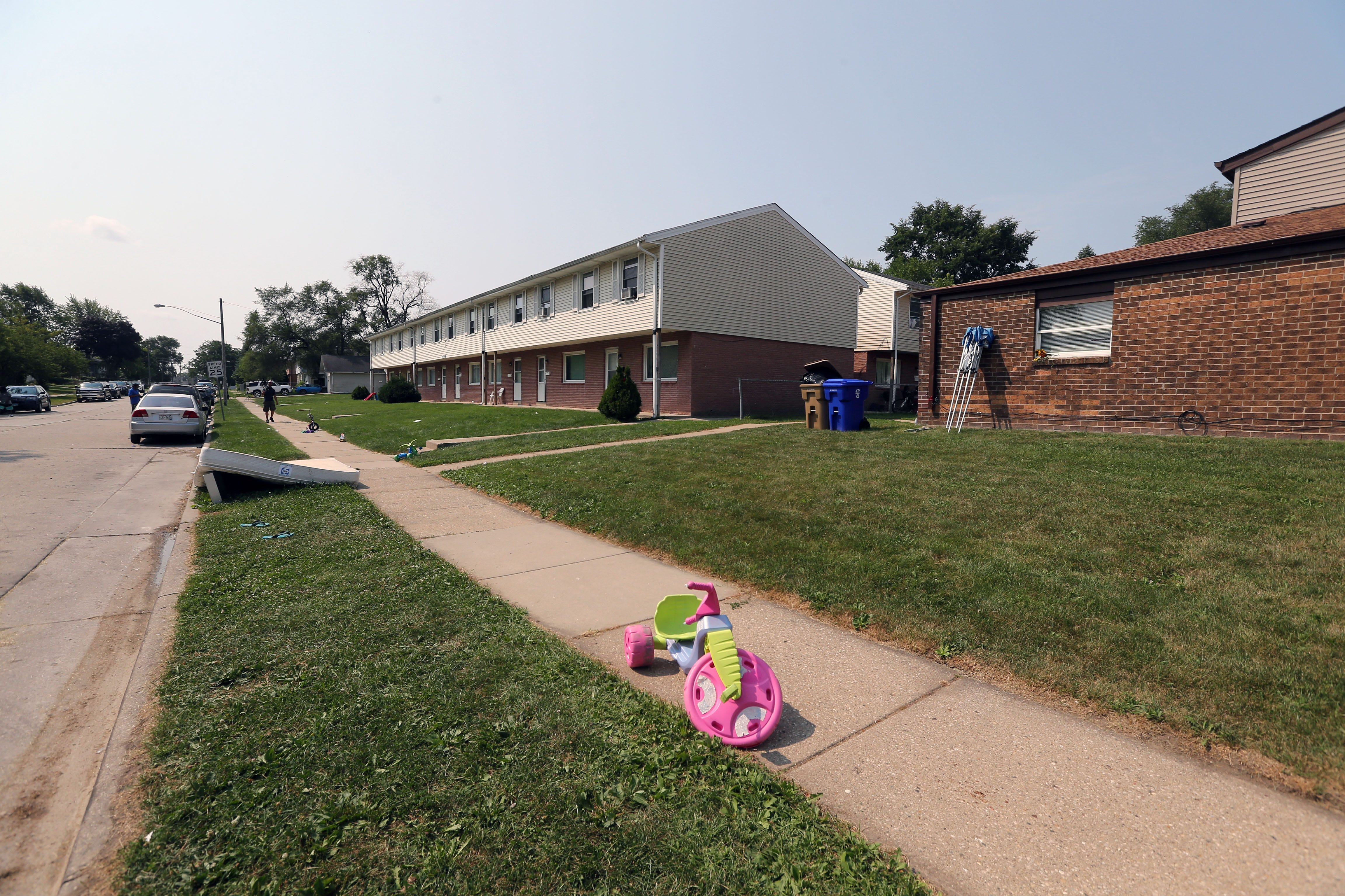 The scene near the 2800 block of 40th street where Jacob Blake was shot by a Kenosha police officer on Aug. 23, 2020.