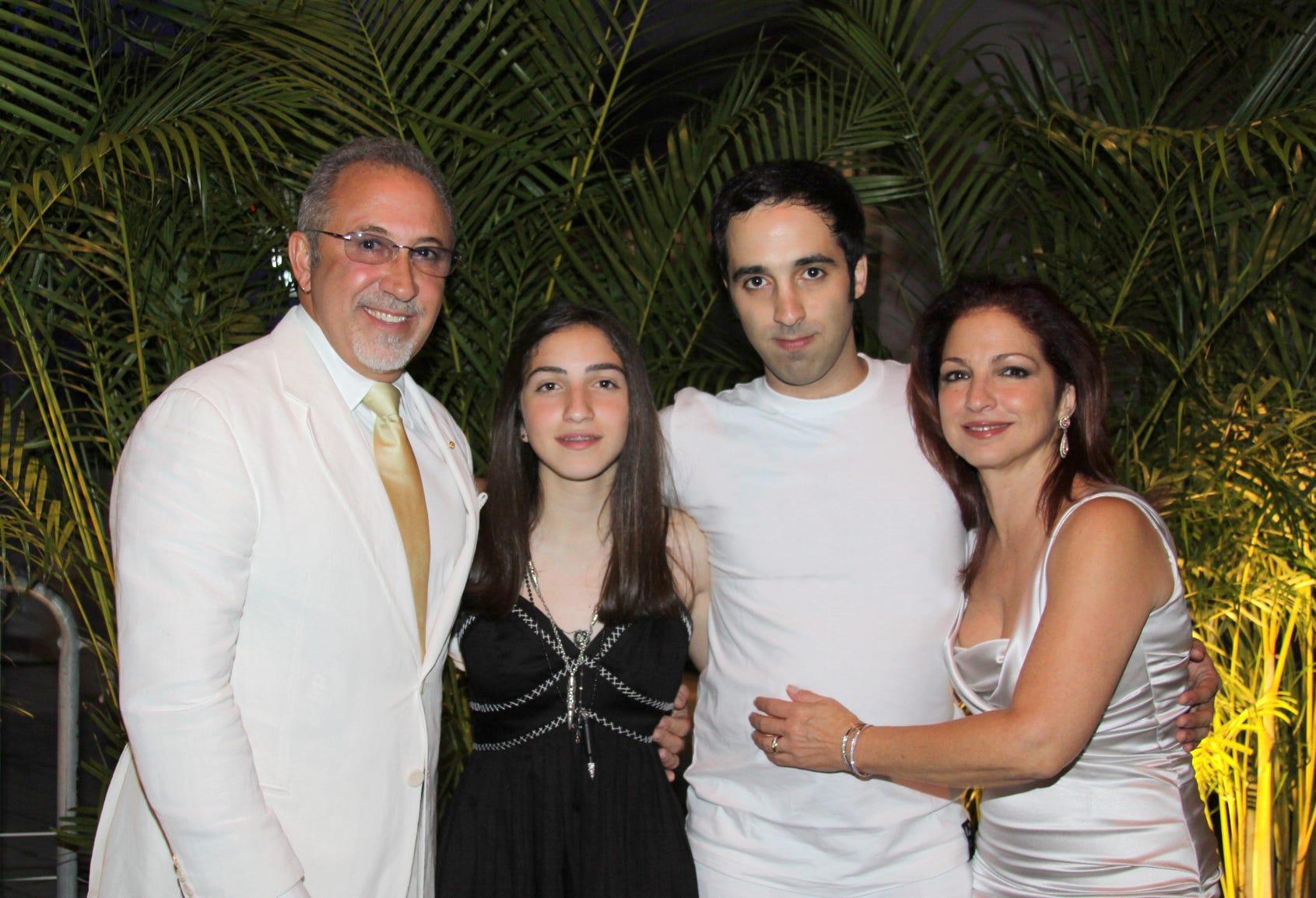 Emilio and Gloria Estefan with their children, Emily and Nayib.