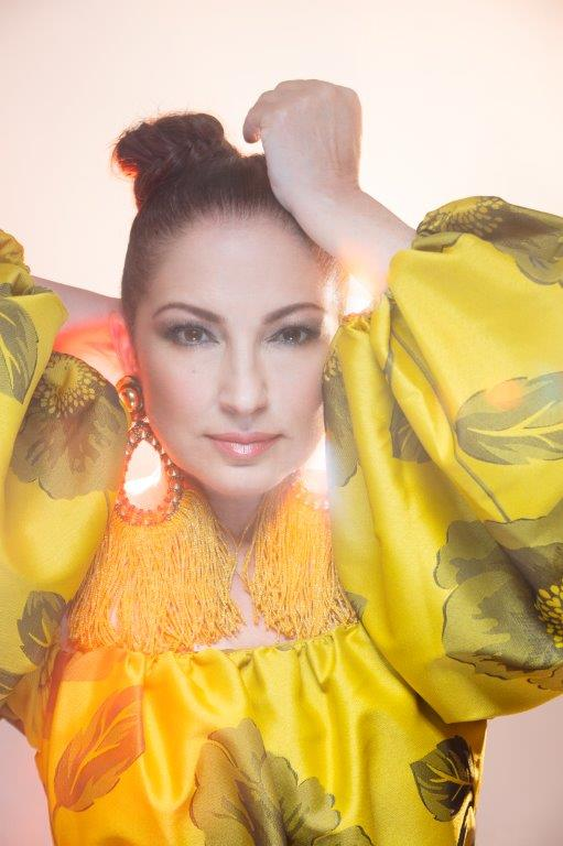 """Gloria Estefan has stayed true to her Cuban roots. She says, """"At the beginning, the record company tried to get us to get rid of the horns, get rid of the percussion, de-Latinize us, when in essence, that fusion is what made us successful."""""""