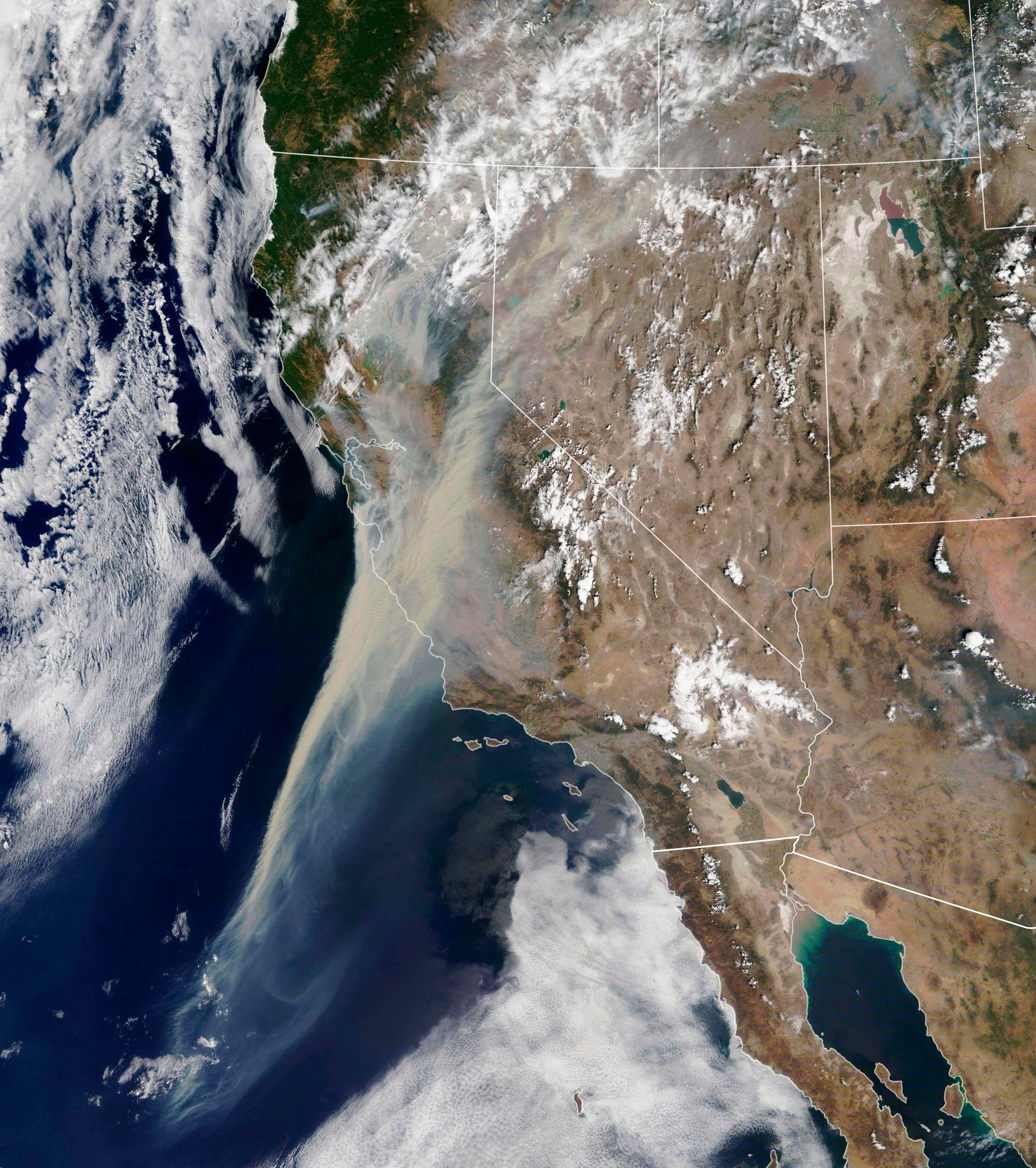 California wildfires: Striking imagery shows how the ...