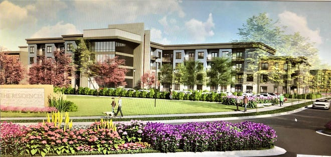An artist's rendering of a 614-unit apartment complex coming to the Oxford Valley Mall in Middletown.