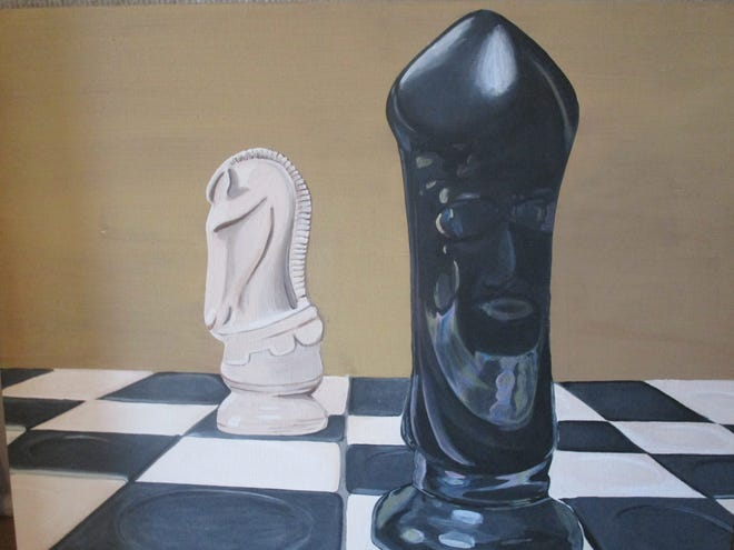 Chess Pieces, by Syndie Brown