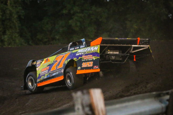 Dustin Strand swept the NLRA Late Model events at Norman County Raceway last Thursday.