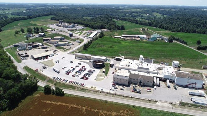 An aerial view of the Case Farms chicken processing plant in  Winesburg, which is one of seven Case Farms facilities honored for its outstanding health and safety programs.