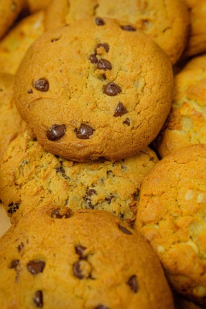 """Chef Nicole Burgess, the pastry chef at Pechanga Resort Casino in Temecula, California, developed """"Quarantine Choco-Chip Cookies"""" for National Chocolate Chip Cookie Day, observed Aug. 4."""