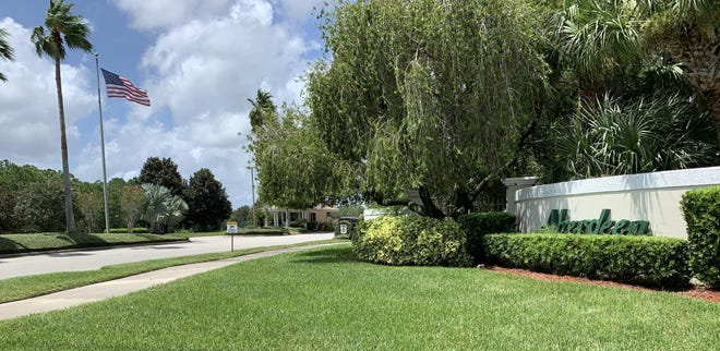 This is the entrance to the gated Aberdeen at Ormond Beach manufactured home community off Clyde Morris Boulevard in Ormond Beach on Monday, Aug. 24, 2020. The 300-acre 553-home community was recently sold to Northwestern Mutual Life Insurance Companmy for $96 million, which is believed to be the biggest real estate sale in Volusia County history.