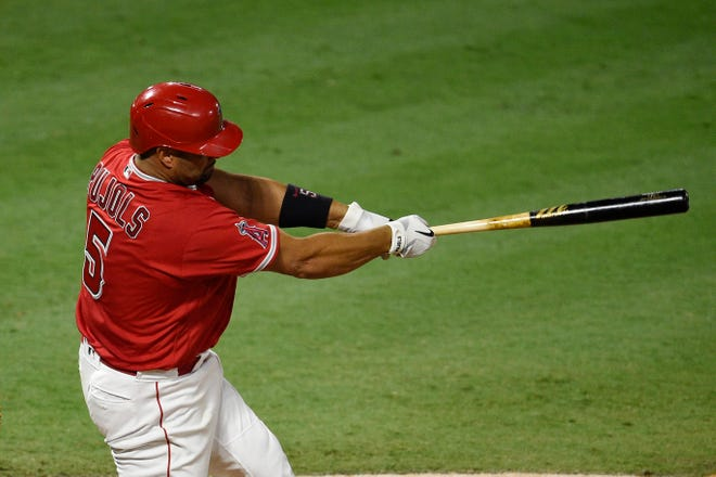 Los Angeles Angels first baseman Albert Pujols moved past Alex Rodriguez into second place officially on the Major League baseball career RBI list.