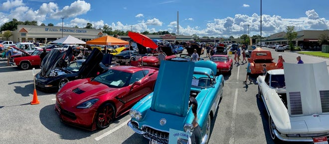 The San Jose Car & Truck Show had a record 93 cars and trucks fill Dupont Station Shopping Center's lot on Aug. 15, with a mix of vintage vehicles and current models.