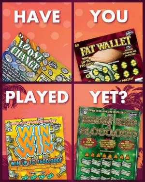 Florida lottery scratch-off games.