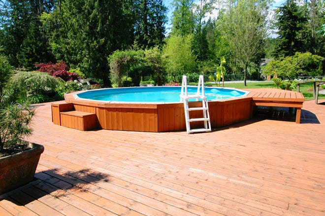 The COVID-19 pandemic has helped send sales of pools that are built above the ground rather than in it soaring.  PHOTO /  iSTOCK