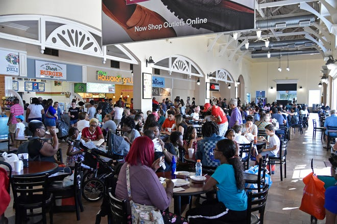 Crowds convene at the Ellenton Premium Outlets on Black Friday, Nov. 29, 2019, in Manatee County. Black Friday shopping will likely look very different this year in the midst of the COVID-19 pandemic.