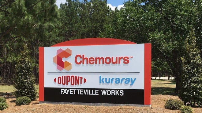 The Chemours plant is off N.C. 87 in Bladen County, near the Cumberland County line.